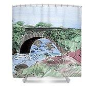 Wishing Bride Bridge, Co.. Kerry Shower Curtain