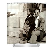 With Dad On Mount Royal Shower Curtain