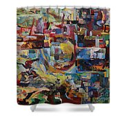 With Heavenly Assistance Shower Curtain
