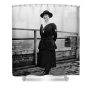Woman Female In Naval Military Uniform 1918 Shower Curtain