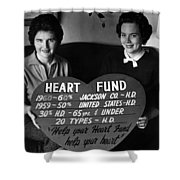 Women Females Heart Fund Sign 19591960 Black Shower Curtain