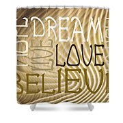 Words Of Love 6 Shower Curtain