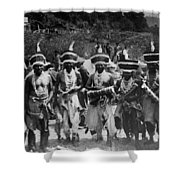 Yurok Indians In Ceremonial Costumes Circa 1905 Shower Curtain