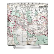 Map Of Macedonian Empire Shower Curtain