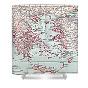 Map: Ancient Greece Shower Curtain