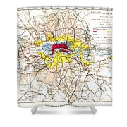 Map Of London, 1881 Shower Curtain