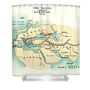 World Map, C300 B.c Shower Curtain