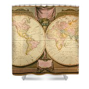 Captain Cook: Map, 1808 Shower Curtain