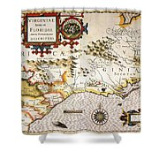 Map: Colonial America, Shower Curtain