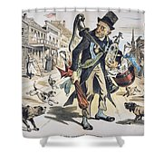 Prohibition  Cartoon, 1889 Shower Curtain
