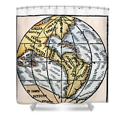 World Map, 1529 Shower Curtain