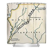 Natchez Trace, 1816 Shower Curtain