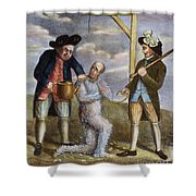 Tarring & Feathering, 1774 Shower Curtain