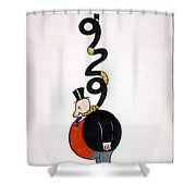 Depression Cartoon Shower Curtain