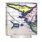 Atlantis: Map, 1831 Shower Curtain