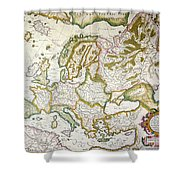 Map Of Europe, 1623 Shower Curtain