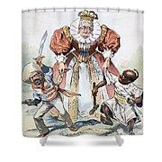 Imperialism Cartoon, 1896 Shower Curtain