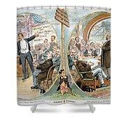 Business Cartoon, 1904 Shower Curtain