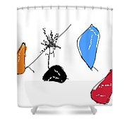 001002aa Shower Curtain