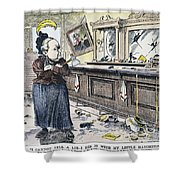 Carry Nation Cartoon, 1901 Shower Curtain