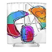 001219aa Shower Curtain