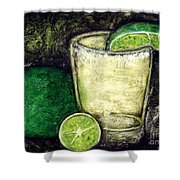 Tequila With Salt And Lime Shower Curtain