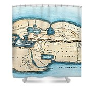 Strabo World Map, C20 A.d Shower Curtain