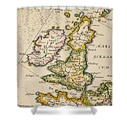 Map Of Great Britain, 1623 Shower Curtain