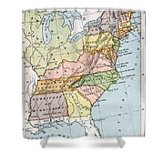 United States Map, C1791 Shower Curtain