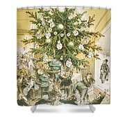 Treasury Cartoon, 1883 Shower Curtain
