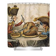 Napoleon Cartoon, 1805 Shower Curtain