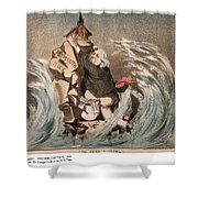 Beecher Cartoon, 1885 Shower Curtain
