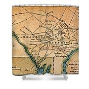 Underground Railroad Map Shower Curtain