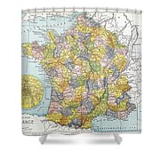 Map Of France, C1900 Shower Curtain
