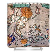Pacific Ocean/asia, 1595 Shower Curtain