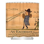 Cartoon: Whiskey Tax, 1794 Shower Curtain