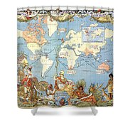 Map: British Empire, 1886 Shower Curtain