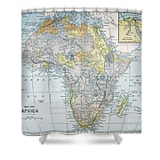 Map: Africa, 19th Century Shower Curtain