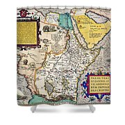 African Map, 1595 Shower Curtain