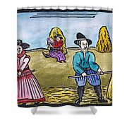 Love Among Haystacks Shower Curtain