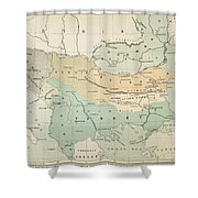 Balkan Map, 1885 Shower Curtain