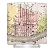 Cincinnati, Ohio, 1837 Shower Curtain