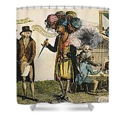 Cartoon: French War, 1798 Shower Curtain