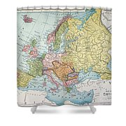 Map: Europe, 1885 Shower Curtain
