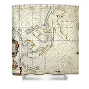 Map: East Indies, 1670 Shower Curtain