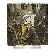 Benito Mussolini Cartoon Shower Curtain