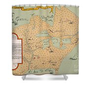 Jolliet: North America 1674 Shower Curtain