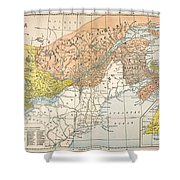 Map: Eastern Canada Shower Curtain