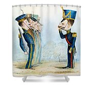 Cartoon: Mexican War, 1846 Shower Curtain