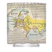 World Map, C1300 Shower Curtain